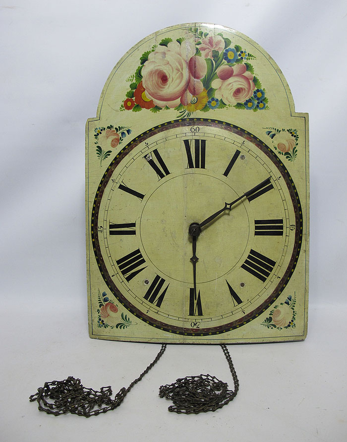 Antique 19th Century Wooden Movement Wag On The Wall Clock ...